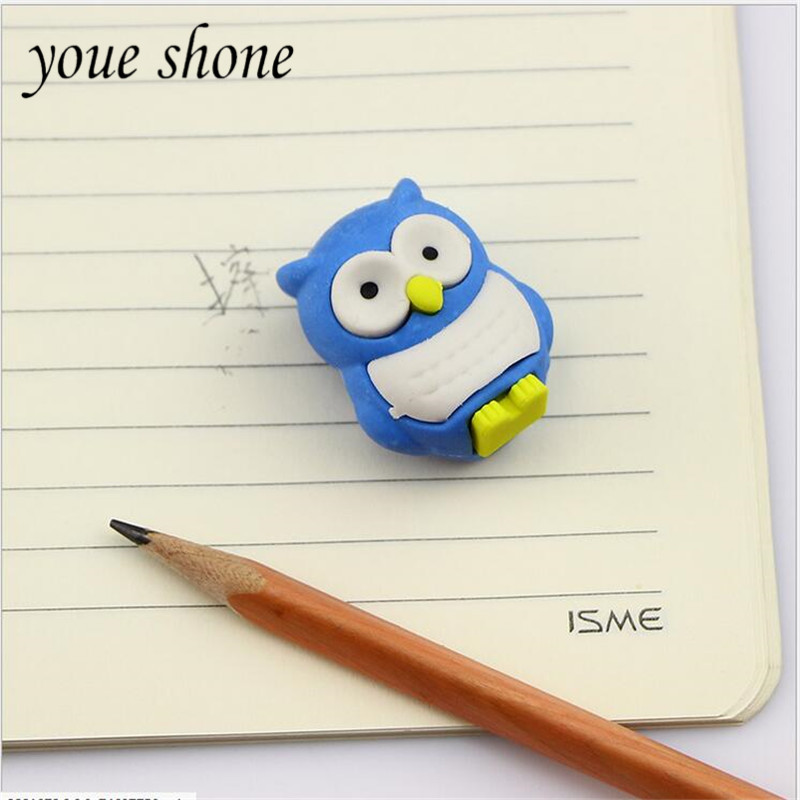 1PCS Stationery Cute Cartoon Animal Eraser Animal Modeling Erasers For School Student Rubber For Supplies Prizes