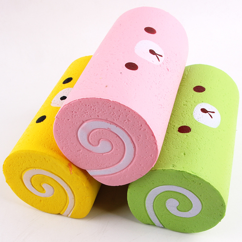 New Product Sales Squishy Cake PU Simulation Slow Rebound Large Swiss Coil Decompression Toy Factory Spot Direct Sale