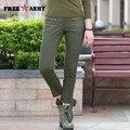 Sraight Calças Moda Outono Verde Do Exército das mulheres calças Calça Casual Calças Plus Size Womens Magro Cabido GK-9520A