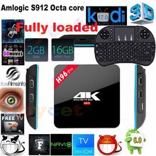 H96 Pro Smart TV Box Amlogic S912 Octa core 2 GB 16 GB Android 6.0 5G wifi 1000 Mbps LAN Bluetooth 4.0 4 K Reproductor Multimedia set top caja