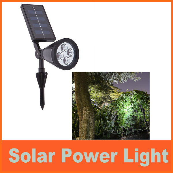led solar light outdoor High Bright 4 LED Solar Powered Light Lamp for Outdoor Landscape Garden Driveway Pathway Yard