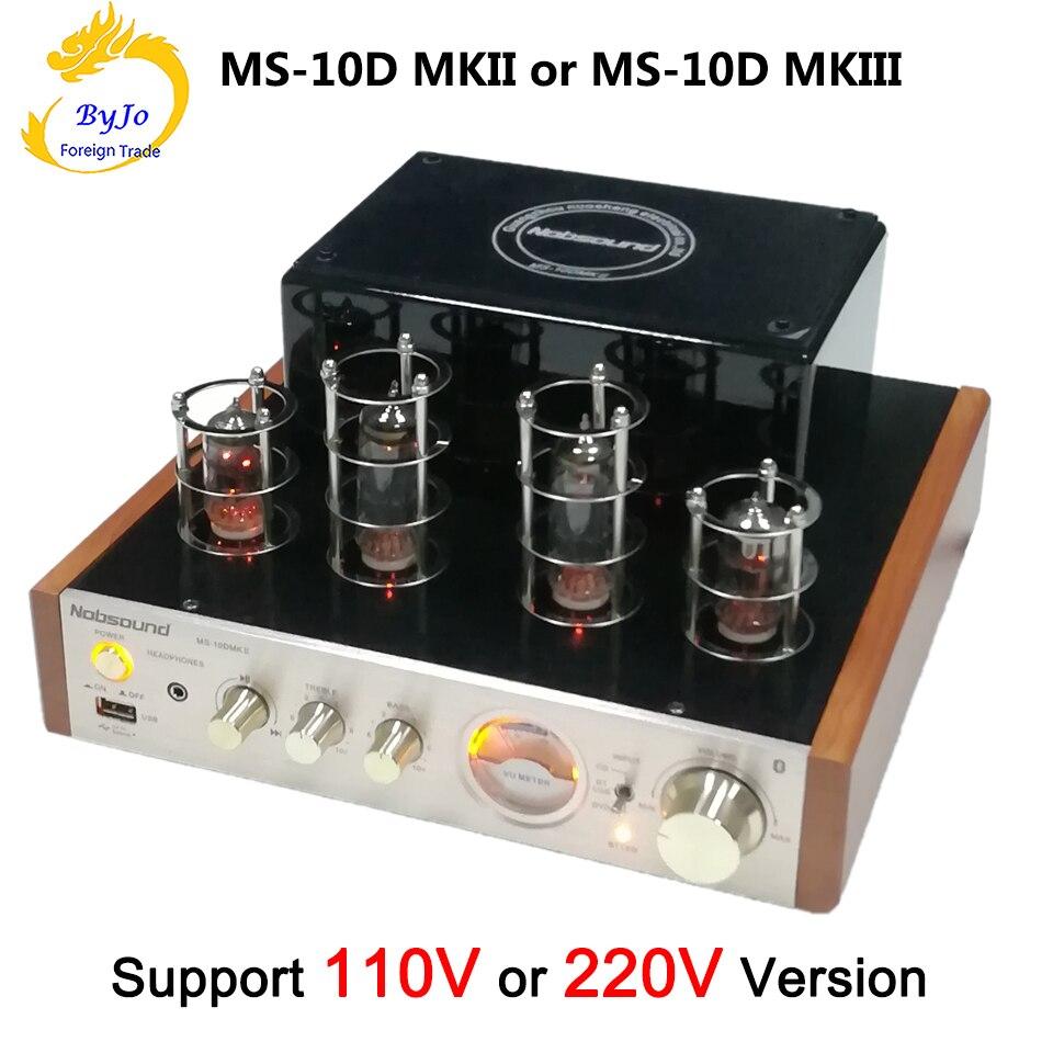 Nobsound MS-10D MKII MS-10D MKIII Tube Amplificateur de Puissance audio Tube À Vide Amplificateur Bluetooth amplificateur 110 v ou 220 v