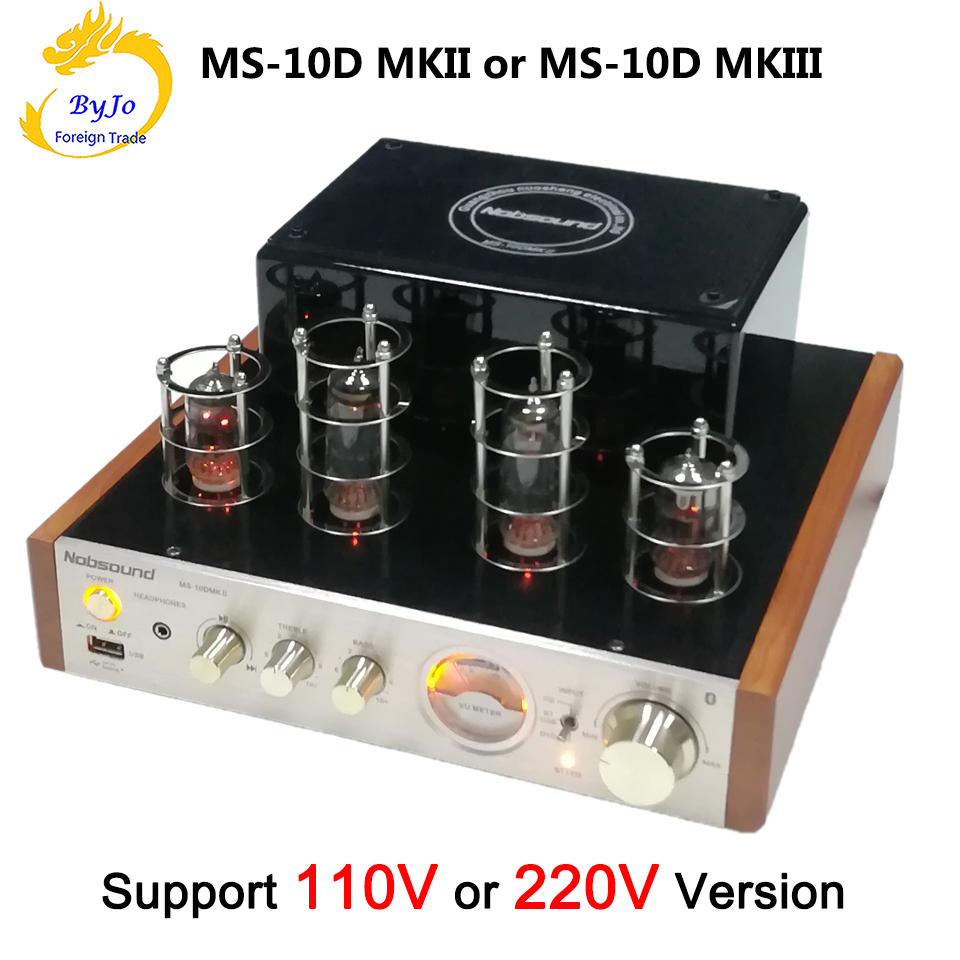 Nobsound MS-10D MKII MS-10D MKIII Tube Amplifier audio Power Vaccum Tube Amplifier Bluetooth amplifier 110V or 220V