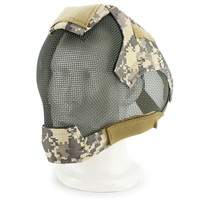 Outdoor Airsoft Mask Full Face Mask Military War Game Steel Mesh Paintbal Head Protective Mask Tactical Full Cover Masks