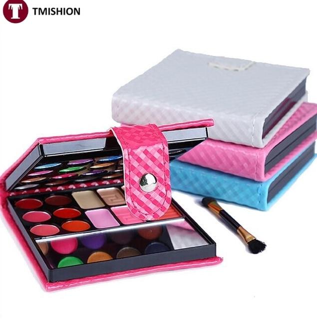 Про Небольшой Макияж Палитра Теней 32 цветов Мода Тени для век Макияж Тени С Делом Косметика Для Женщин Oogschaduw 4 цвета