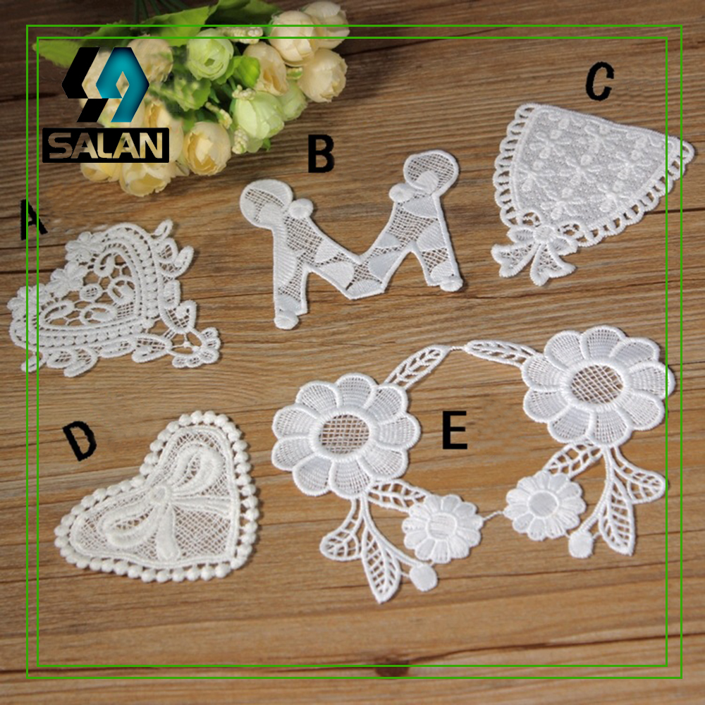 Lace factory direct home embroidery hollow cotton embroidery stickers lace edge clothing accessories