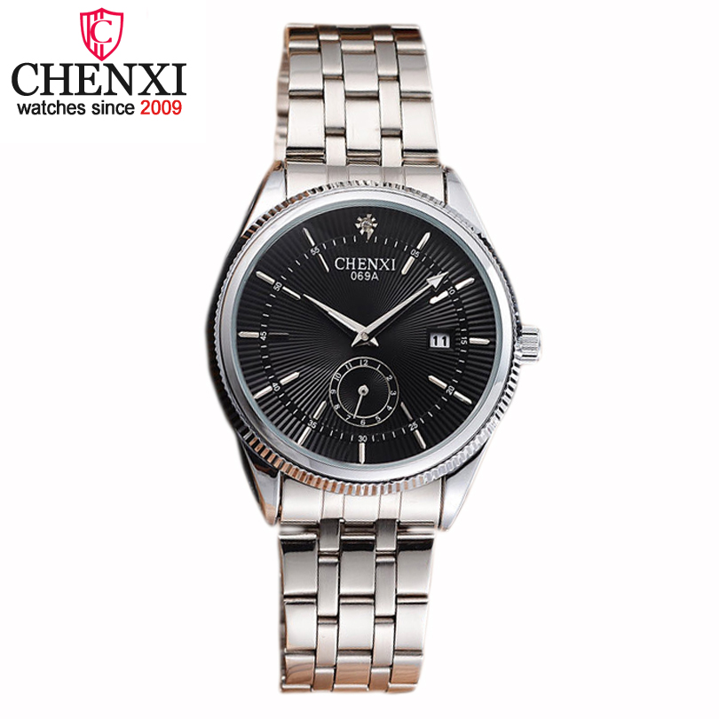 CHENXI Brand font b Top b font font b Luxurious b font Stainless Steel Gentleman Watch