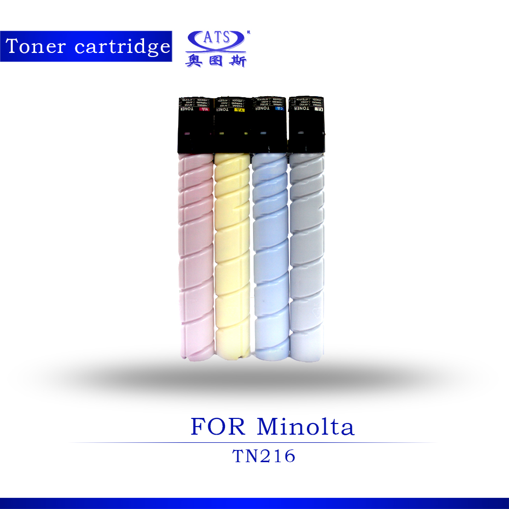 1PCS BK524G CMY437G TN216 Toner Cartridge For Minolta Bizhub BH C220 C280 Copier Parts Compatible toner powder 1pcs photocopy machine toner cartridge for xerox dcc 6550 c 5400 6500 7500 copier parts dcc6550 toner powder page 2