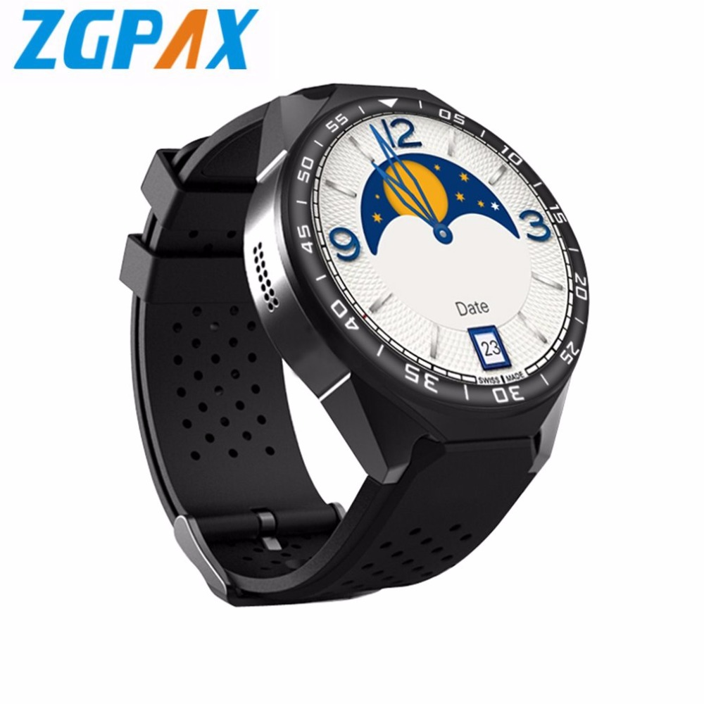 ZGPAX S99C Android V5.1 OS Smart Watch HD Touch Screen Smart Watch GPS WIFI Phone Watch With 2MP Camera Pedometer Monitor