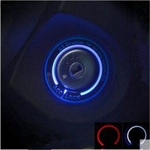 Автомобильный светильник СВЕТОДИОДНЫЙ Переключатель зажигания Крышка/кольцо украшение с кольцом для ключей наклейки для Ford Focus 2/Focus 3 4 MK3 MK4 2005-/Kuga/MONDEO
