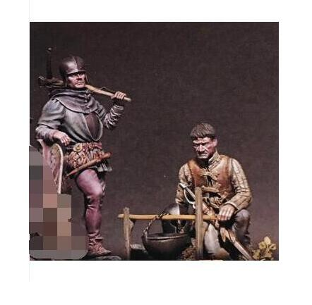 1/24 75mm Ancient WARRIOR  INCLUDE 2    Toy Resin Model Miniature Resin Figure Unassembly Unpainted