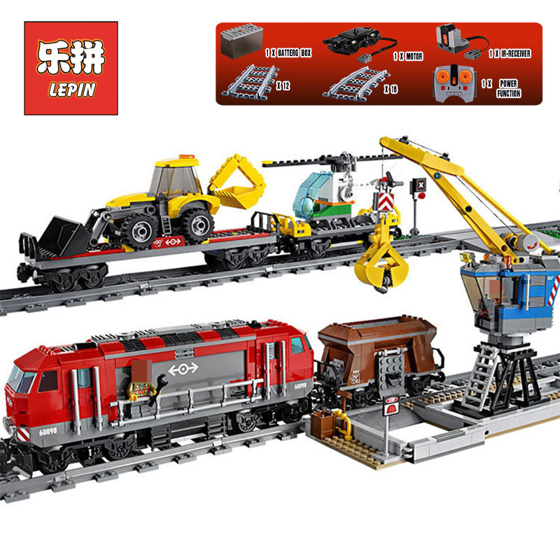 Lepin 02009 Genuine City Series The Heavy-haul Train LegoINGlys 60098 Building Blocks Bricks Educational Toys Christmas Gifts lepin 02009 city series heavy haul train set genuine 1033pcs building blocks bricks educational toys boy christmas gifts 60098