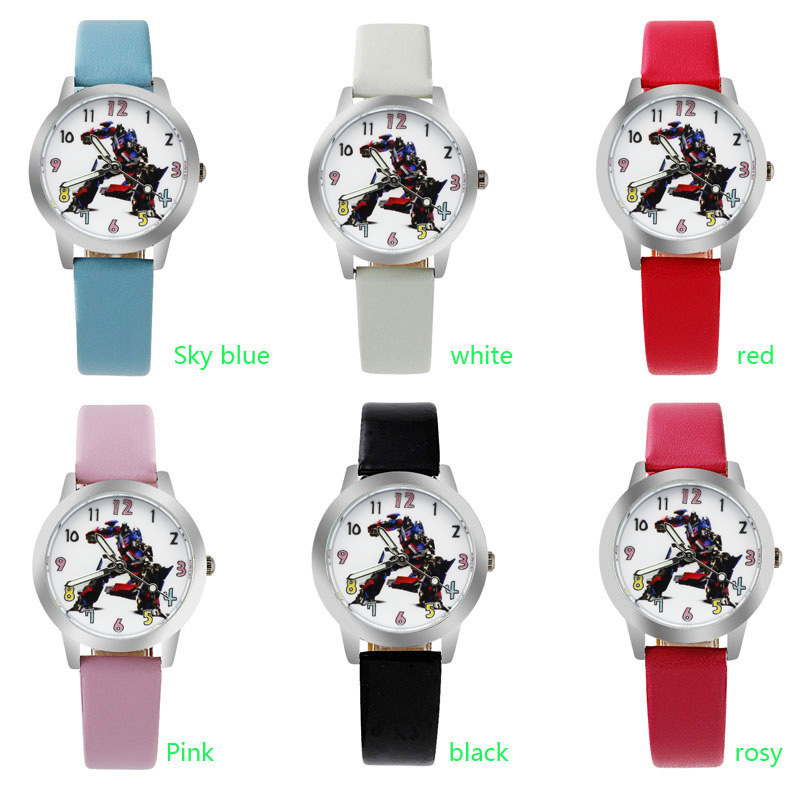 ot01 Child Watch Transformers 2 Girls Boys Waterproof Quartz Watch Cute Cartoon Elementary School Watches