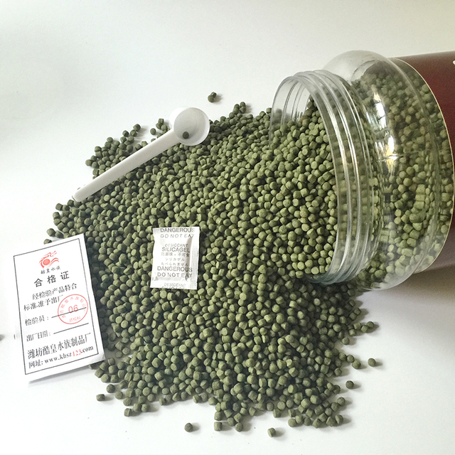 Free shipping  goldfish Double spirulina 48%protein  goldfih feed food  for wholesale 500gram
