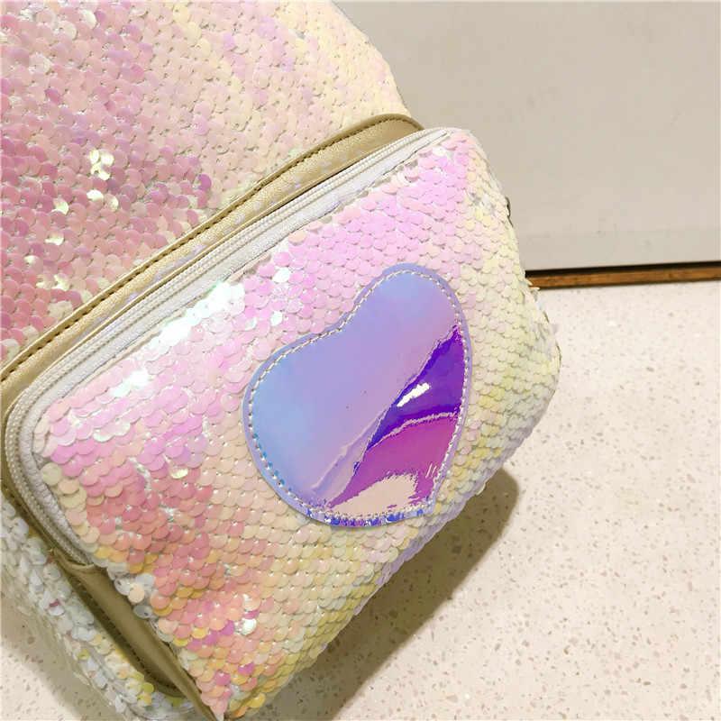 Amarte/2019 Летний милый мини-рюкзак для девочек, блестящий женский рюкзак с единорогом, большой вместимости симпатичный рюкзак для молодых девушек