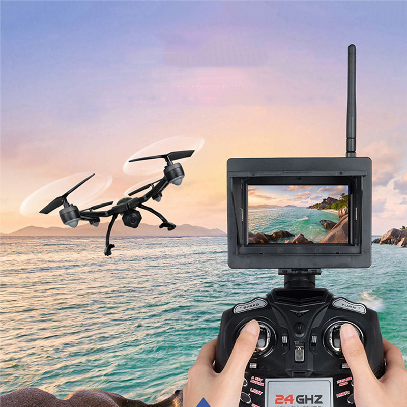 MINOCOOL JXD 510G 5.8G FPV RC Drone HD Aerial Shooting 4-axis Aircraft WiFi Real-time Pictures Transmission Style 5.8G Green UAV zerotech aerial drone paddle protection aircraft blade guard for dobby uav