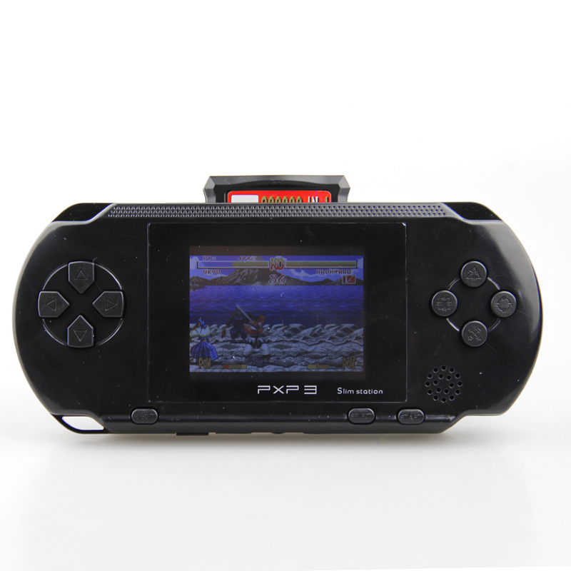 Portable 16 Bit PXP3 Handheld Game Player Video Game Console with AV Cable+2 Game Cards Classic Child Games PXP 3 Slim StationPortable 16 Bit PXP3 Handheld Game Player Video Game Console with AV Cable+2 Game Cards Classic Child Games PXP 3 Slim Station
