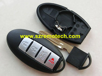 Free Shipping Replacement 4 Button Remote Key Shell Black NSN14 Blade Fit For Nissan Altima Maxima