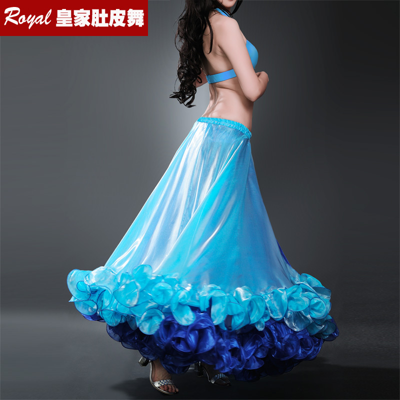 Hot Sale Free shipping New bellydancing two color skirts belly dance skirt costume training dress or performance -6038