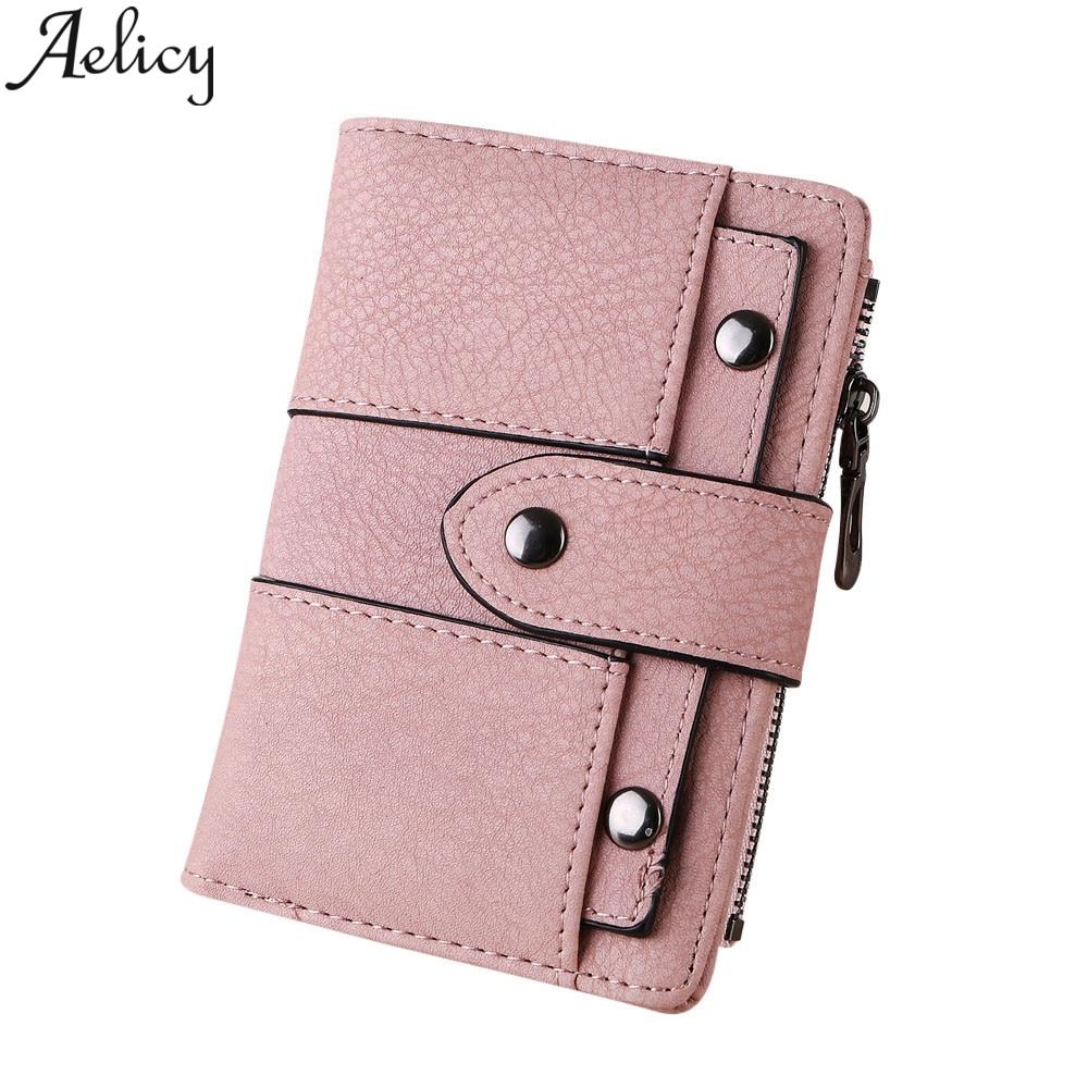 Brieftaschen Aelicy Männer Frau Beiläufige Kurze Geldbörse Handtasche Leder Brieftasche Für Kreditkarten Frauen Leder Kupplung Geldbörse Schlüsselbund Gesundheit Effektiv StäRken