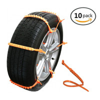 Car Anti Skid Cable With Anti Skid Emergency Cable Ties 10 Packages Easy To Use