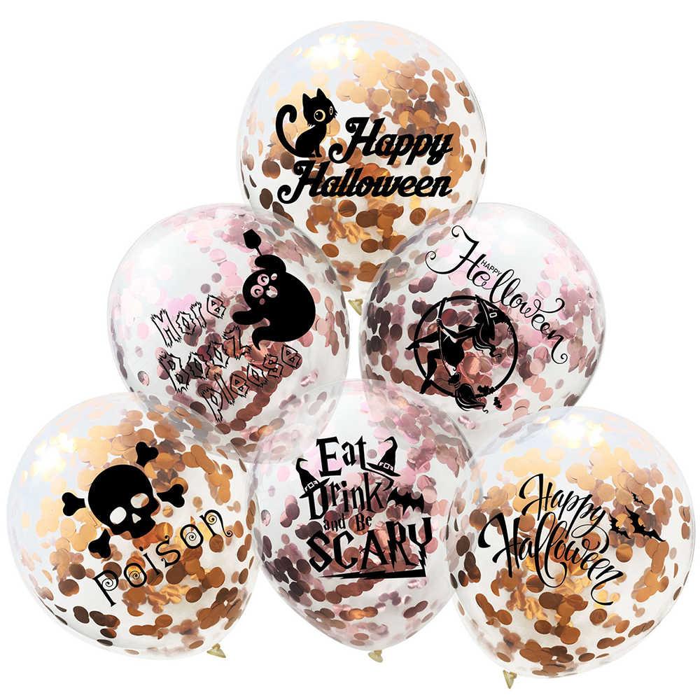 Йориу 10 шт. призрак воздушные шары набор балон с днем рождения конфетти для воздушного шара ведьмы Дети Хэллоуин украшения Рождественский подарок детей