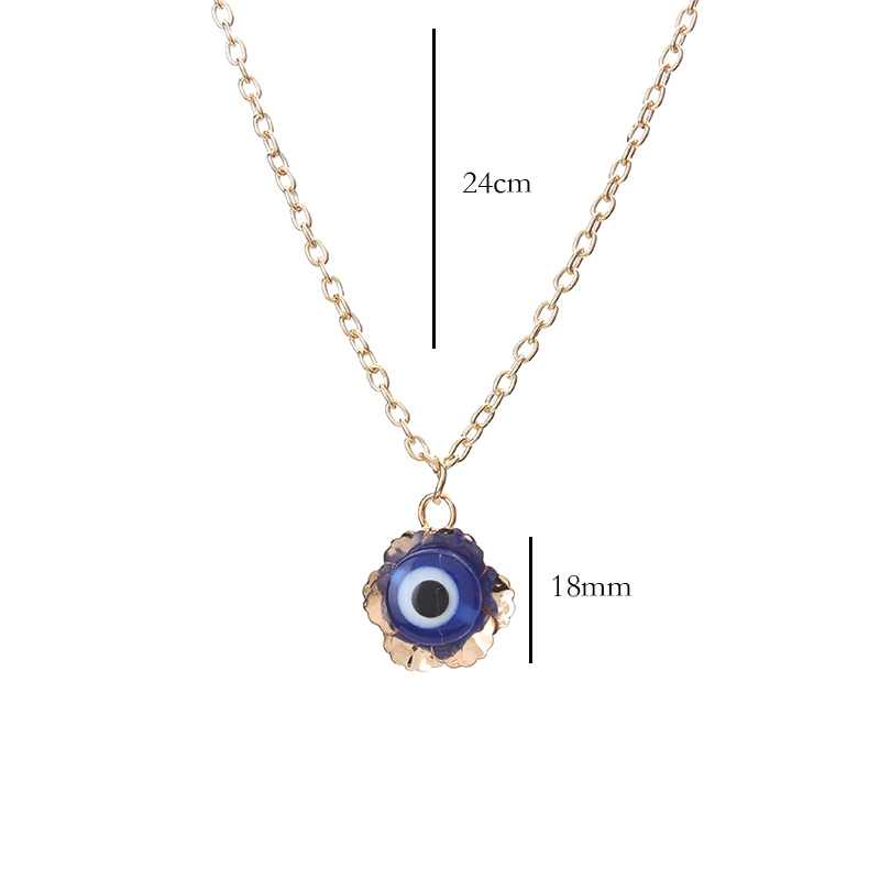 1pc trendy golden zinc alloy link chain blue evil eye pendant necklace for party birthday wedding valentines day jewelry gift in pendant necklaces 1pc trendy golden zinc alloy link chain blue evil eye pendant necklace for party birthday wedding valentines Choice Image