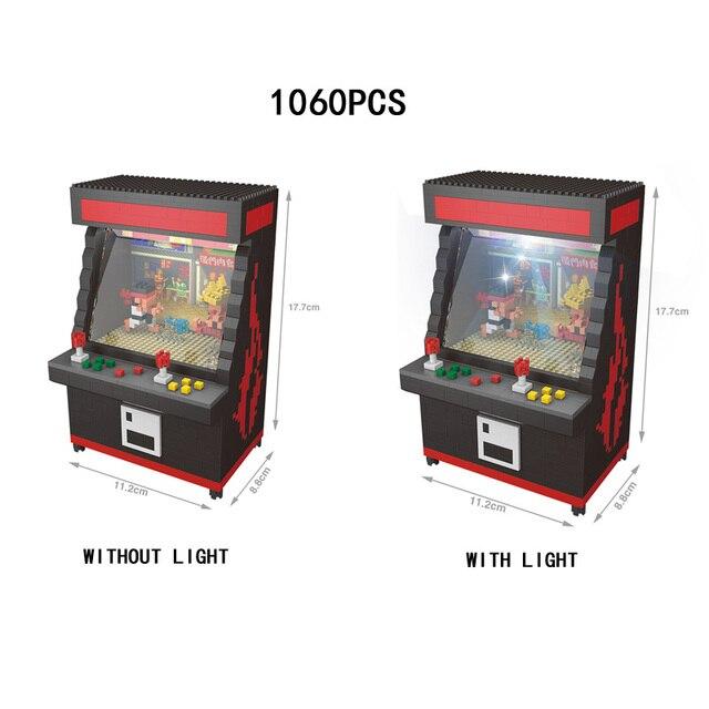Забавные Street Fighter Arcadegames micro diamond building block игровой консоли сборки кирпичи игрушечные лошадки nanoblock со светодио дный подсветкой
