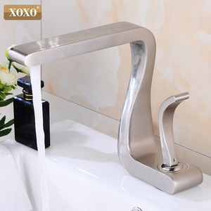 Image 5 - XOXO Basin Faucet Black Brass Hot and Cold Single Handle  Basin Mixer Tap Deck Mounted  Bathroom Faucets Sink  Faucet 21035