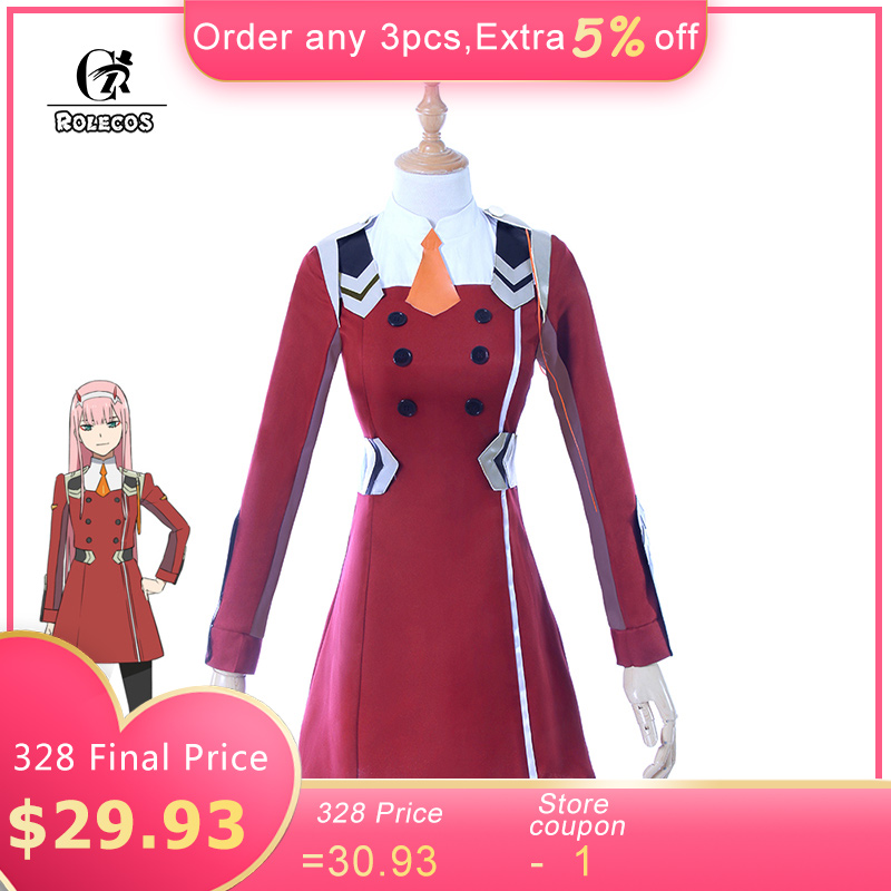 ROLECOS 2018 Japanese Anime DARLING in the FRANXX Cosplay Zero Two Cosplay Women Cosplay Costume Japanese Anime Full Set