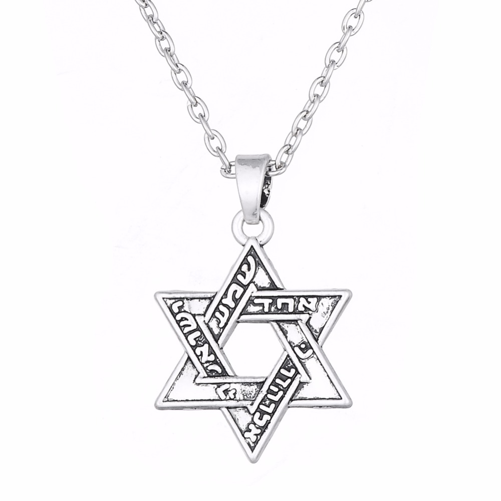 Lemegeton Jewish Star of David pendant Necklaces Silvery