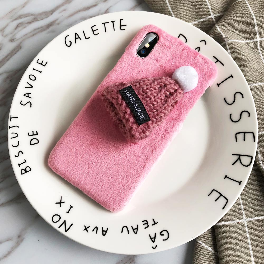 KISSCASE-Christmas-Hat-Phone-Case-For-iPhone-X-XS-Max-XR-5-5S-Se-Fur-Plush(8)