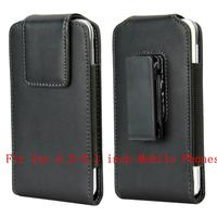 Vertical Belt Clip Leather Case Fit For 4 5 5 1 Inch Rotating Holster Cover For