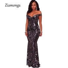 66b1d60c51 Ziamaga 2018 diseño de marca cuello en V delgado de una pieza vestido de  lentejuelas negro de manga corta vestido de fiesta de m.