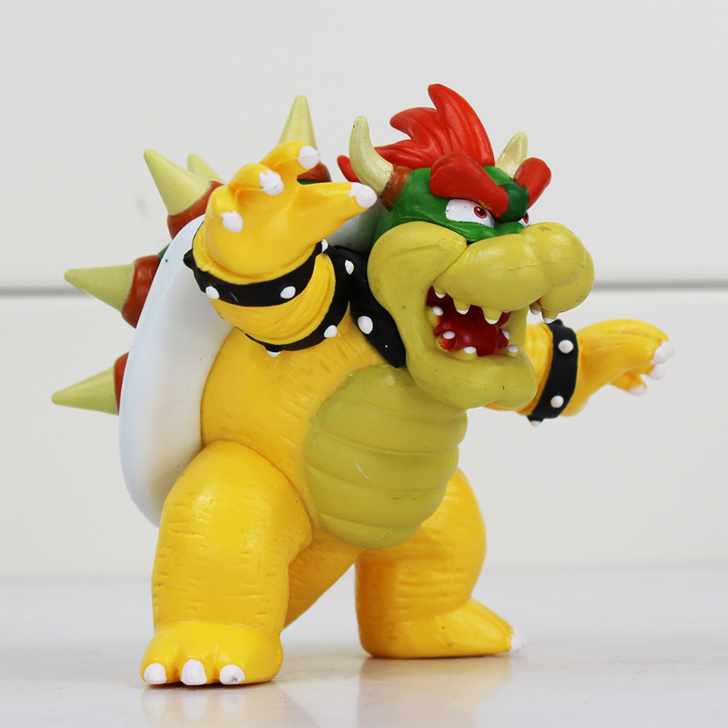 Super Mario Bowser Koopa PVC Figures Toy 8cm Great Doll Gift Free Shipping 1