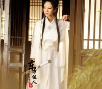 2014 New Design Drama Costume White Cotton padded Cloak and Dress TV Play The Flying Fox of Snowy Mountain Maid Costume