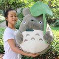 Дориа Трейдер 23 '' / 60 см Супергигант Прекрасный Фаршированные Плюшевые Cute листьев лотоса Тоторо игрушки, хороший подарок для младенца, Бесплатная доставка DY60077