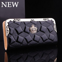 Fashion Women Wallets Crown Lady Purses Handbags Zipper Coin