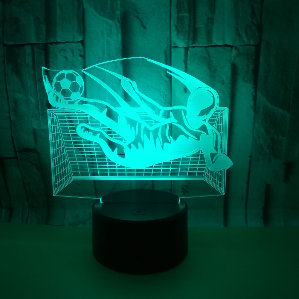 3D LED USB Football Sports Multicolor Table Lamp Athlete Bedroom Night Light Kid's Gifts Home Party Decorative Lighting Cable image
