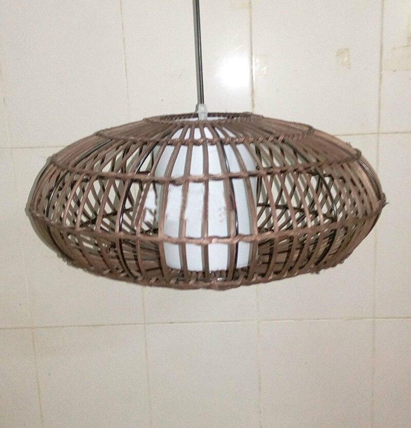 2016 hot verkoop Moderne korte rieten hanglamp rotan lamp voor ...