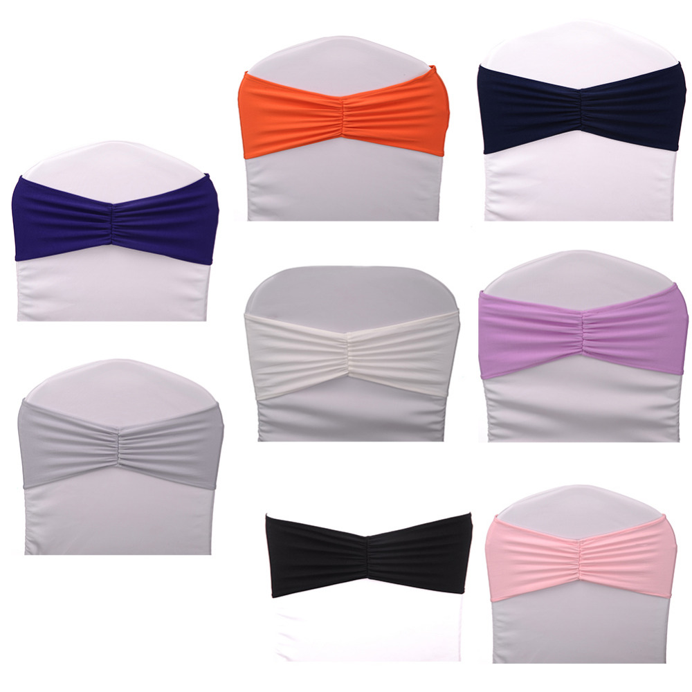 10pcslot Sashes Stretch Chair Coverings Straps Wedding Chair Back