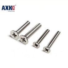 Free Shipping 100pcs/Lot GB819 M3x30 mm M3*30 mm 304 Stainless Steel flat head cross Countersunk head screw