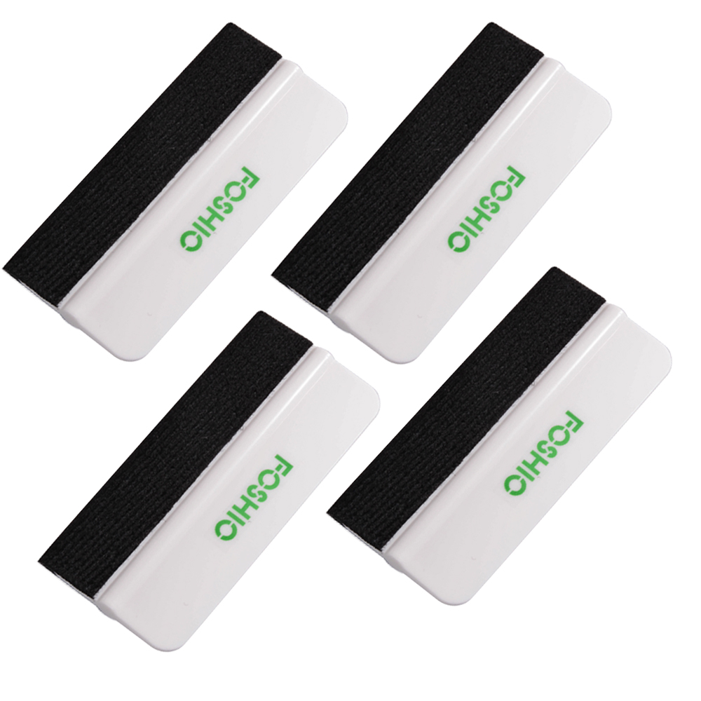 FOSHIO 4pcs Carbon Fiber Wrapping Felt Squeegee Soft Scraper Vinyl Car Wrap Tool Window Tint Tool Auto Glass Cleaning Tools