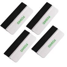 FOSHIO 4pcs Carbon Fiber wrapping Felt Squeegee Soft Scraper Vinyl Car Wrap Tool Window Tint Auto Glass Cleaning Tools