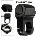 1pc 12V 10A Black/Silver Motorcycle Handlebar Grip Headlight On Off Switch Without Pilot Lamp