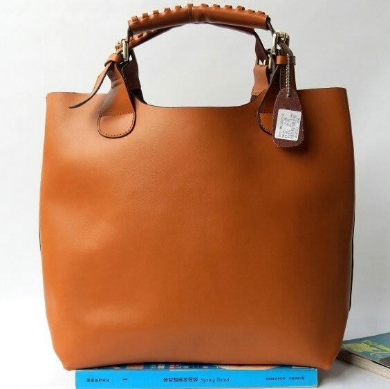 2016 genuine cowhide leather handbag women's one shoulder shopping bag Single shoulder bag Star with ladies handbags