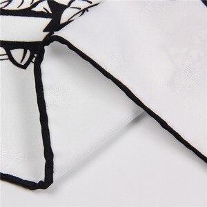 Женский шелковый шарф POBING, 90x90 см, Леопардовый принт, ручная работа, квадратные шарфы, Bee Echarpes Foulards Femme, бандана, маленький хиджаб