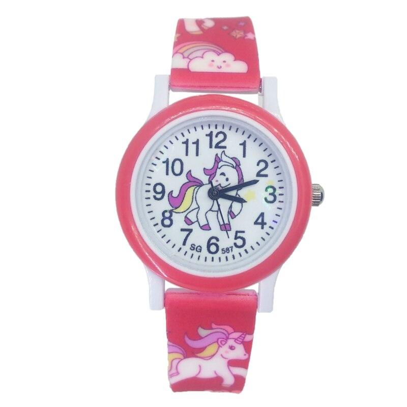 2019 New Pony Watch Children Fashion Cute Unicorn Cartoon Girls Boys Child Quartz Clock Student Sport Kids Watch Baby Watch Gift