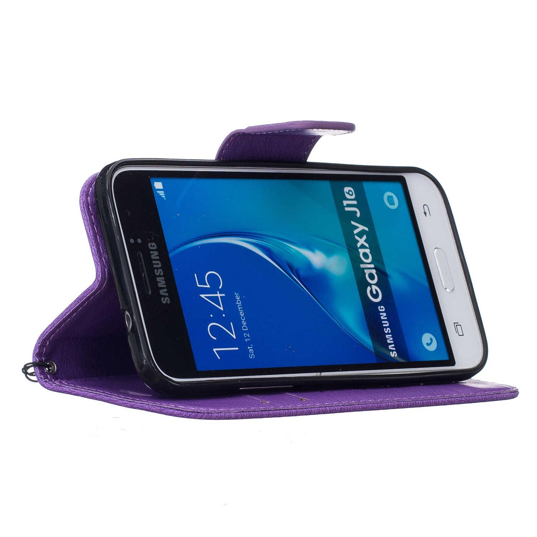Новая мода для Samsung Galaxy J1 2016 J120F sm-j120f Чехол Бумажник откидная крышка из искусственной кожи слот для карты фото Рамки сумка стенд Капа