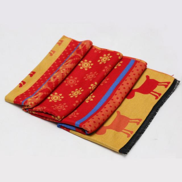 Tanper infinity scarf Yellow azul rojo naranja del cabo reno de la cachemira de pashmina geométrica xale lana para mujer bufandas bigote mantón